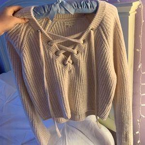PacSun LA Hearts Cream Sweater